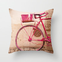 Lady in Pink Throw Pillow by Hello Twiggs