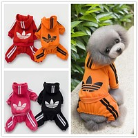 Dog Clothes Four Legged Puppy Coat Warming Cotton Hoodies Dog Clothing Winter Clover Sweater Pets Clothes for Small Medium Dog