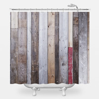 Distressed Barn Wood Shower Curtain