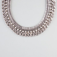 Full Tilt Chunky Chain Collar Necklace Silver One Size For Women 24287714001