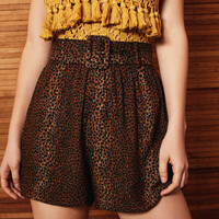 BOG Collective Babs Belted Leopard Short | Urban Outfitters