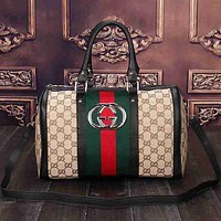 Perfect Gucci Women Leather Luggage Travel Bags Tote Handbag