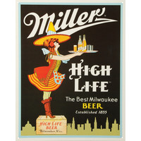 Miller Beer Tin Concert Sign