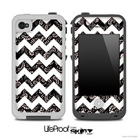Floral Laced and White Chevron Pattern for the iPhone 5 or 4/4s LifeProof Case