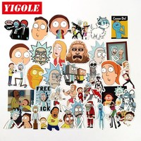 35pcs Do Not Repeat Rick And Morty Funny Sticker PVC Anime Laptop Doodle Stickers For Kids Classic Toys