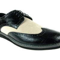 Men's Banker Wing Tip Lace Up Oxfords Dress Shoes