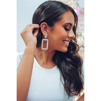 Cold As Ice Earrings: Gold