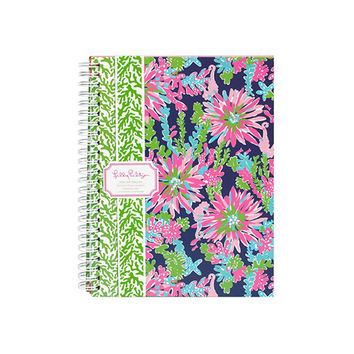 Lilly Pulitzer - Mini Notebook, Trippin' and Sippin' Navy