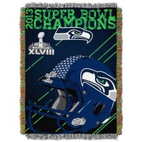 Seattle Seahawks Super Bowl XLVIII Champions 50'' x 60'' Pitsol Formation Woven Champs Blanket