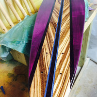 Purple HAZE Skateboard  Pintail Handmade Custom (AS Seen in Concrete Wave)