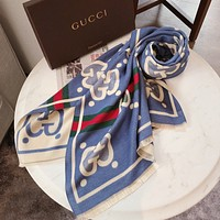 Gucci wool scarf women autumn and winter all-match cashmere shawl padded collar