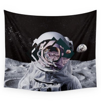 Society6 Spaceman Oh Spaceman Come Rescue Me teal Wall Tapestry