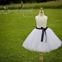 White Bridesmaid Tutu Skirt, White Adult Tutu, Wedding Tutu, Engagement Tutu, Junior Bridesmaid Tutu Skirt, Adult Tulle Skirt