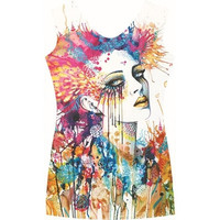 women summer t-shirt 3D Vest tops Sleeveless Graphic Printed Digital Printing Blouse Tank Tops Women dfb106