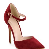 Burgundy To The Point Pumps