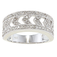 Sterling Silver 1/2ct TDW Diamond Vintage Ring (G-H, I2) | Overstock.com