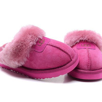 """""""UGG"""" Fashion Women Casual Wool Slipper Shoes Roses"""