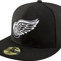 NHL Detroit Red Wings Basic Black and White 59Fifty Cap