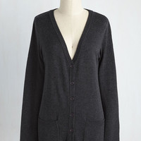 Have a Good Knit Cardigan in Charcoal