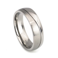 Simple design titanium wedding ring