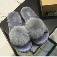 UGG Hair ball Fashion casual slippers
