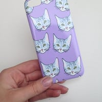 Kitty Cat Cell Phone Case iPhone 3 3GS 4 4S 5 5S 5C Samsung Galaxy S2 S3 S4 Mini S5 Sony Xperia Z Blackberry Z10 Curve Bold HTC One
