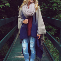 Deer Valley Poncho - Taupe