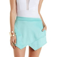 Mint Envelope Wrap Mini Skort by Charlotte Russe