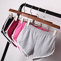 Workout Waistband Skinny Shorts