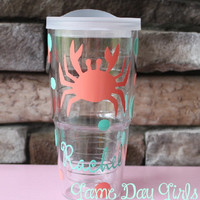 CRAB PERSONALIZED TERVIS tumbler