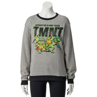 Freeze Teenage Mutant Ninja Turtles Juniors' Fleece Ringer Sweatshirt, Size: