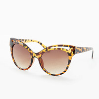 Cat Eye Cut-Out Sunglasses in Tortoiseshell - Urban Outfitters