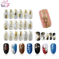 108 Pattern Sheet Large Size Bronzing Stickers Paste Manicure Gold Silver Flowers Sticker & Decal 3D Nail Art Decorations JH125