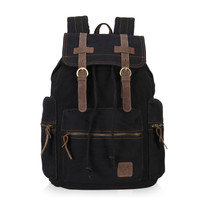 VEEVAN Unisex's Retro High Density Casual Large Style Canvas Satchel Laptop Backpack Fashion Vintage School Bags Backpack