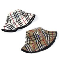 MinanSer Transparent PVC coating Bucket Hats Women Harajuku plaid PVC Cap Men's Sunshade Fashion Show checked Bucket hat