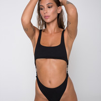 Xanthe Swimsuit in Mini Rib Textured