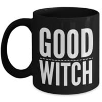 Good Witch Gift - Witches Brew Coffee Mug - Black Mug for Witches