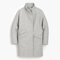 Italian stadium-cloth wool cocoon coat