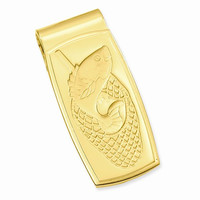 Gold Plated Fish in Net Hinged Money Clip