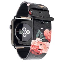 44mm & 42mm Vegan Leather Apple Watch Band - Dark Rose