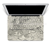 Map mac decal macbook pro decals keyboard decal cover skin keyboard decal laptop macbook decals sticker Avery mac decals Apple Mac Decal
