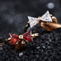 Shiny Stylish Gift Jewelry New Arrival Butterfly Simple Design Innovative Ring [11192906004]
