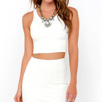 Throw a Curve Ivory Two-Piece Dress