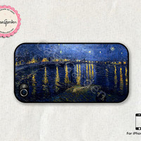 Starry Night iPhone 4 Case, iPhone 4s Case, iPhone Case, iPhone Hard Case, iPhone 4 Cover, iPhone 4s Cover