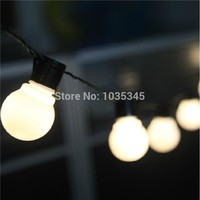 Outdoor lighting 5cm big size LED Ball string lamps Black wire