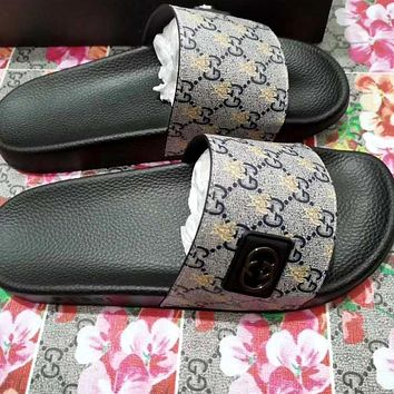 GUCCI summer new home anti-slip slippers beach sandals shoes