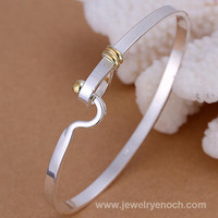 plain metal silver plated bangles and bracelets