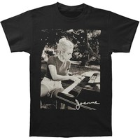 Lady Gaga Men's  Joanne Piano Photo Tee T-shirt Black
