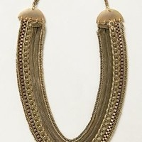 Mixed Links Necklace by Anthropologie Gold One Size Necklaces
