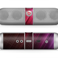 The Neon Slanted HD Strands Skin for the Beats by Dre Pill Bluetooth Speaker